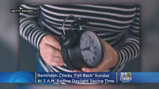 Reminder: Clocks 'Fall Back' This Weekend For End Of Daylight Saving Time