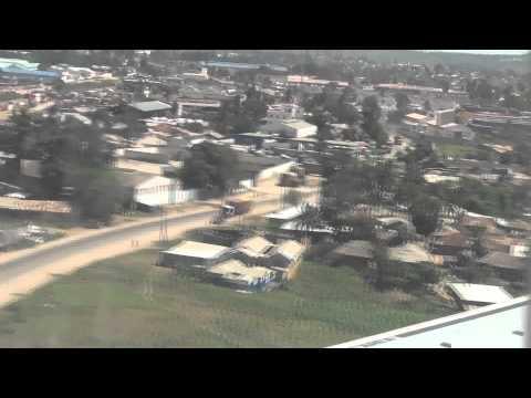 Landing at Moi International Airport Mombasa Kenya