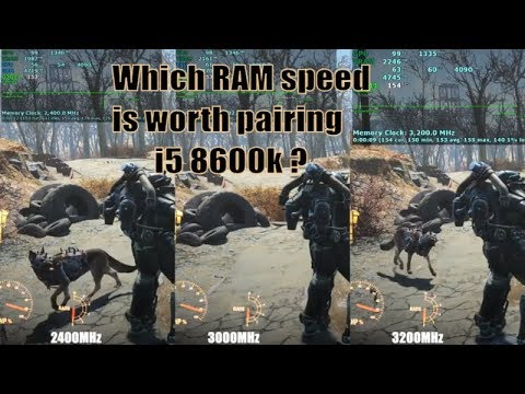 2400MHz vs 3000MHz vs 3200MHz RAM speed test | i5 8600k