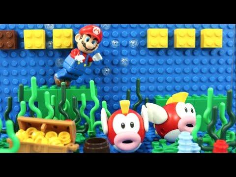 Download マリオがレゴの海でスイミング?プクプクを捕まえろ!