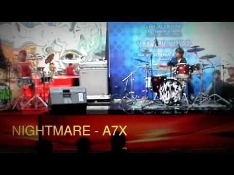NIGHTMARE - A7X ^Drum Cover ANGGA vs BAGAS
