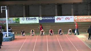 60 m Final Youth Indoor Champs Dobrich 2015