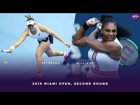 Rebecca Peterson vs Serena Williams  2019 Miami Open Second Round  WTA Highlights