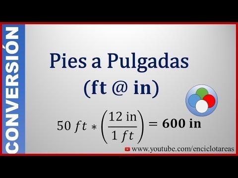 Convertir de Pies a Pulgadas  (feet to inch)