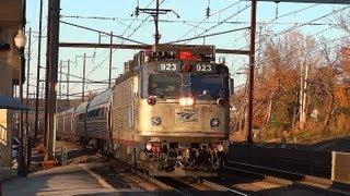 -Amtrak & MARC Trains in Halethorpe Maryland