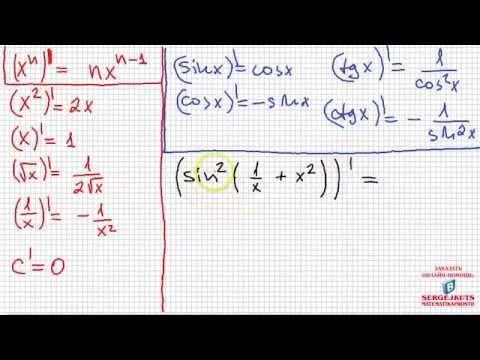 Как вычислить производную сложной функции