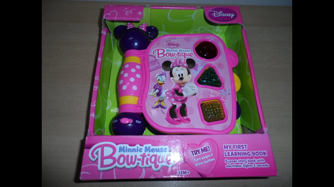 DISNEY MINNIE MOUSE BOW-TIQUE KINDERGARTEN LEARNING TOY ...