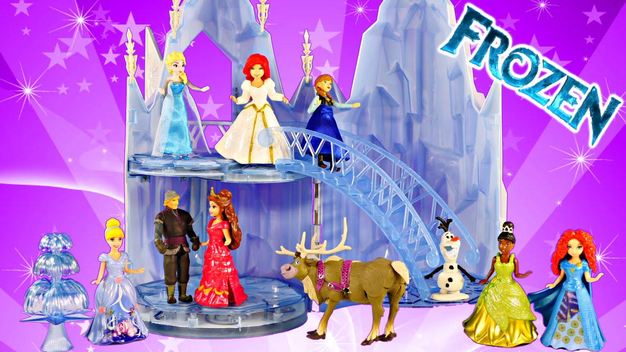 New frozen musical ice castle toy playset elsa sings let it go song
