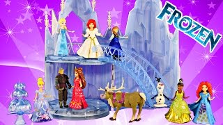 New FROZEN Musical Ice Castle Toy Playset Elsa Sings Let It Go Song Disney Princess Magiclip Wedding