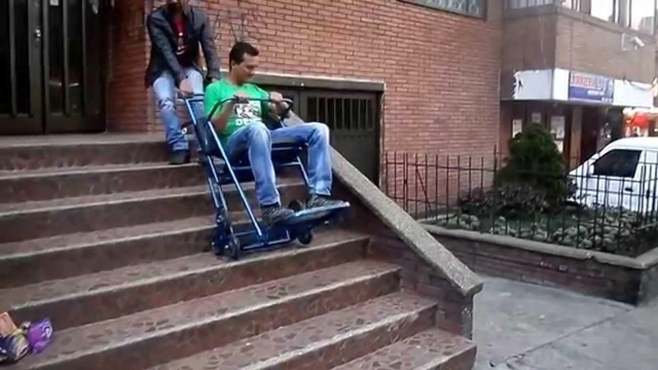 Silla salvaescaleras la mas econ mica del mercado youtube for Sillas de escaleras para minusvalidos