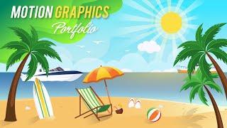 Motion Graphics CV y Animación de la Cartera | After Effects | Showreel (2018-19)