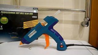 Профессиональный клеевой пистолет Proskit GK   389H тест на качество