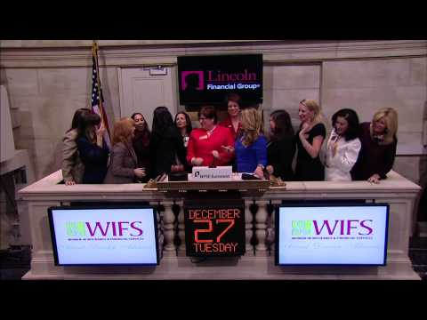 The Women in Insurance and Financial Services (WIFS) rings the NYSE Opening Bell