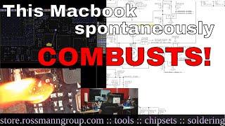 A1398 2012 Macbook Pro Retina GPU issue: solder joints under microscope