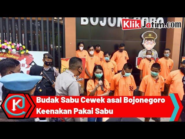 Budak Sabu Cewek asal Bojonegoro Keenakan Pakai Sabu