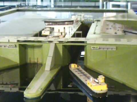 Model for lock - water transport