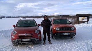 Fiat 500X e Jeep Renegade 4x4 | La prova sui ghiacci svedesi!(Dopo averle provate su strada è arrivato il momento di fare sul serio. Andrea è volato fino in Svezia per provare le qualità 4x4 della Fiat 500X e della Jeep ..., 2015-03-20T23:30:01.000Z)