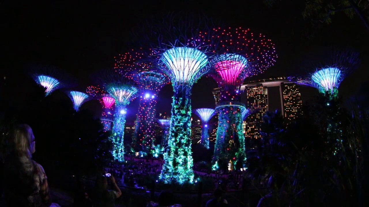 garden by the bay light show singapore 2016 full