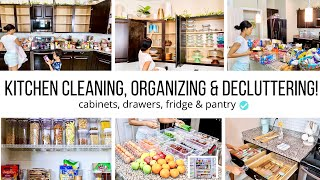 ALL DAY CLEAN & ORGANIZE WITH ME!! // KITCHEN CLEANING MOTIVATION // Jessica Tull cleaning