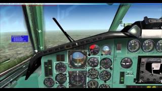 FSX Project Tupolev Tu154-B2 Warsaw/EPWA-EPGD/Gdansk Full Flight Part 4 HD