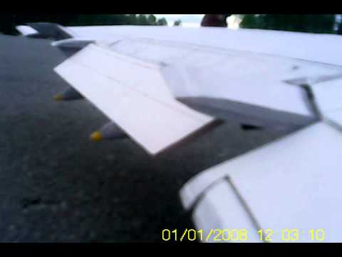 RC 747-8 wing view and testing
