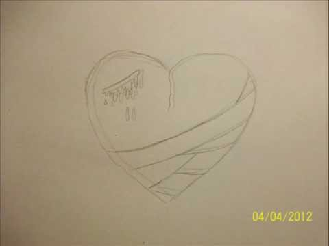 Drawing An Emo Heart Real Easy Step By Step In 1 Minute