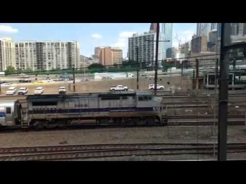Amtrak Pennsylvanian train #42 arriving at 30th Street Station