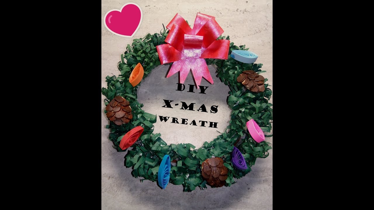 lets make an awesome small christmas wreath with recycled papers part 2 - Small Christmas Wreaths