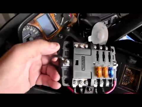 Installing Extra Fuse Block In Gold Wing Motorcycle