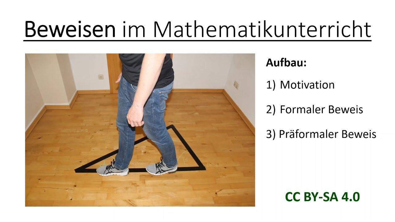 Beweisen im Mathematikunterricht   Mathematik und ihre Didaktik