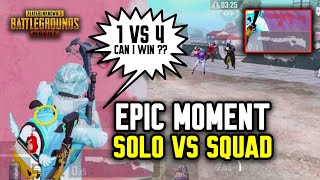 EPIC MOMENT SOLO VS SQUAD !!! CAN I WIN 1 VS 4 WITHOUT AMMO ?! - PUBG MOBILE INDONESIA
