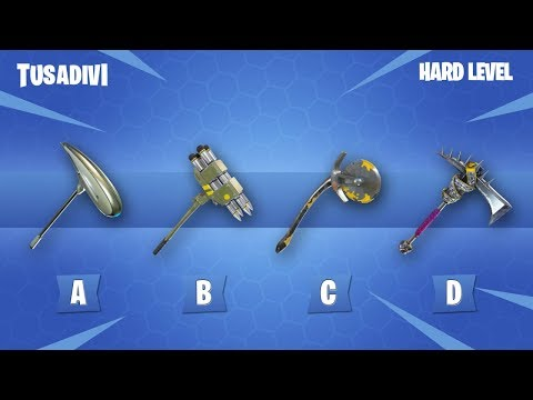 GUESS THE FORTNITE PICKAXE FOR ITS SOUND - FORTNITE CHALLENGE | tusadivi