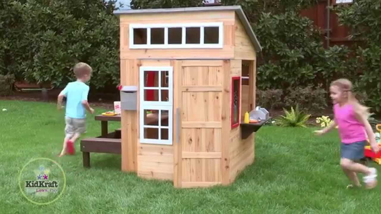 KidKraft Modern Outdoor Lekehus YouTube