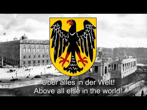 National Anthem of Weimar Republic (1919-1933) - Das Lied der Deutschen (FULL)
