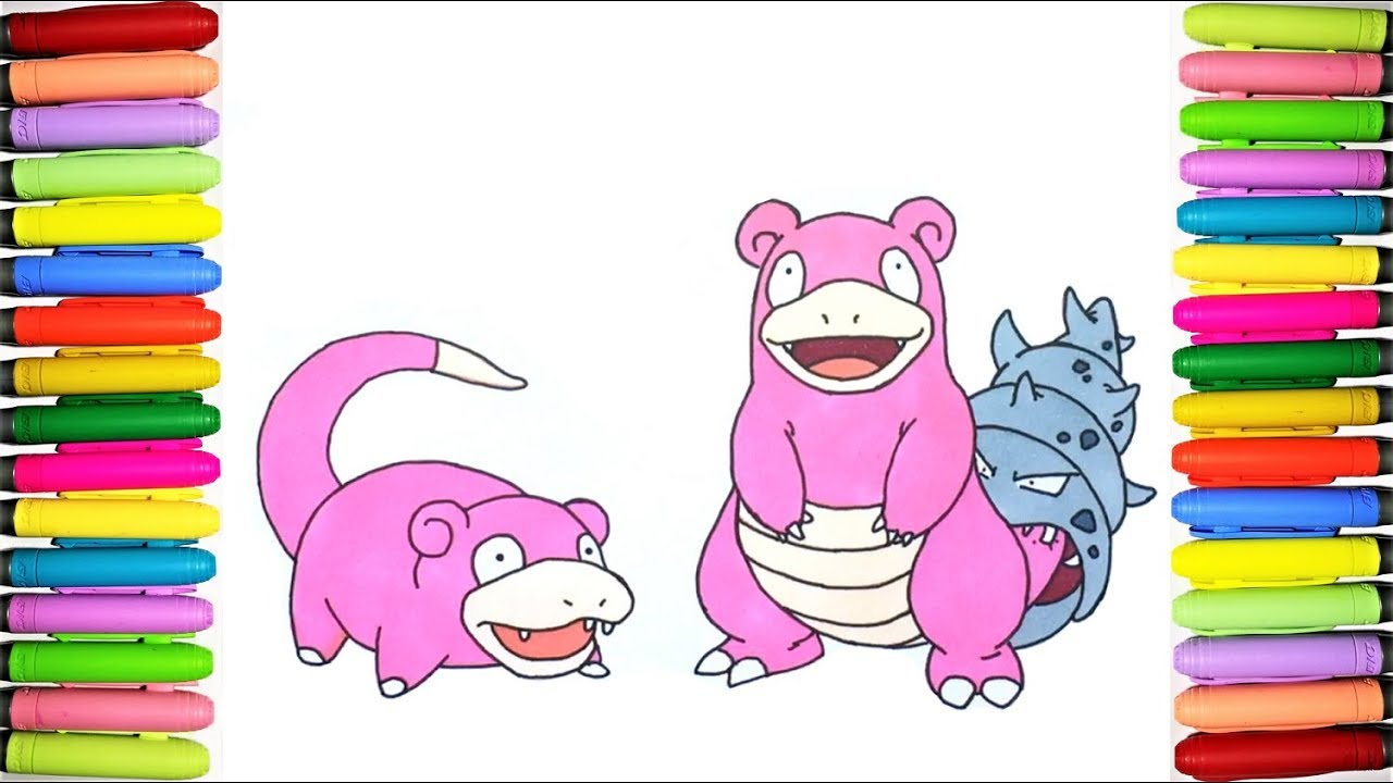 Pokemon Coloring Pages Slowpoke And Slowbro Youtube - Slowpoke-coloring-pages