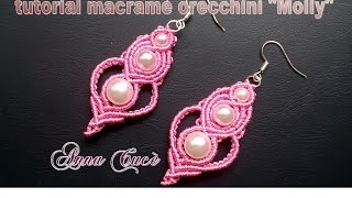 "Tutorial macramé earrings ""Molly""/Diy tutorial"