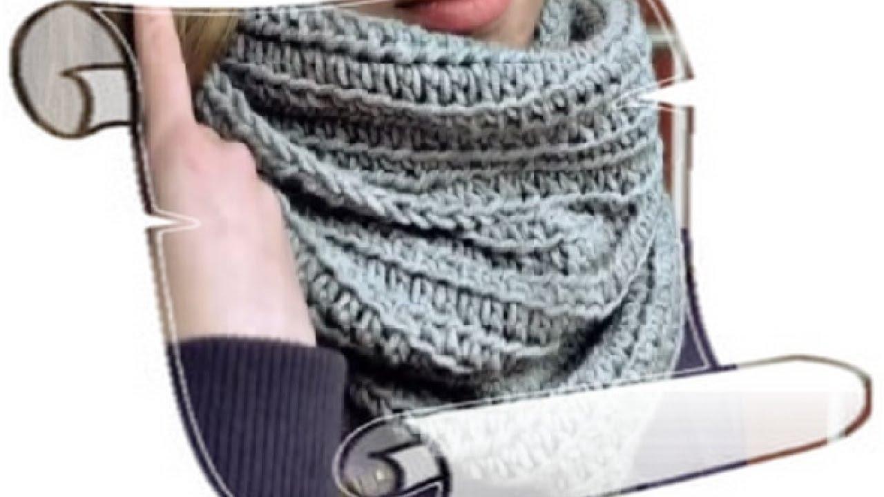 мужские шарфы схема крючком