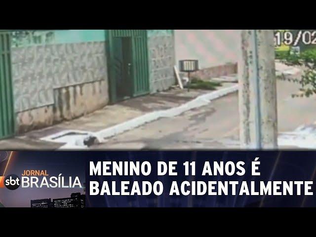Menino de 11 anos é baleado acidentalmente | Jornal SBT Brasília 19/02/2019