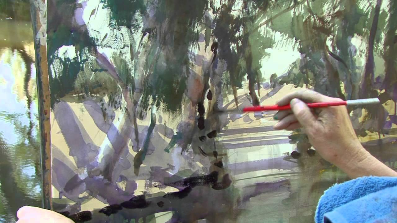 Download Amanda Hyatt: Watercolour River Scene