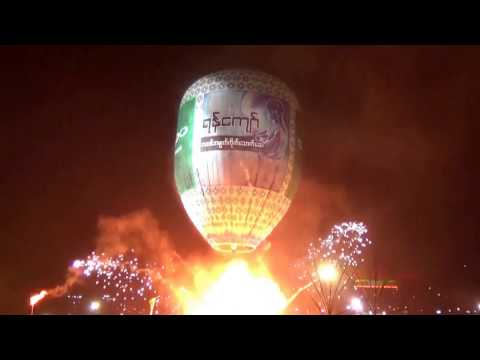 Taunggyi Fire Balloon Festival in Myanmar 2016-11-14 Accidental Fireworks Explosion