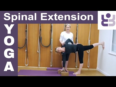 20 Minute Iyengar Yoga Class  For Spinal Extension, With Optional Extra Inversions