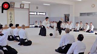 AIKIDO | 合気道 |  Dojo master Mitsuteru Ueshiba's demonstration