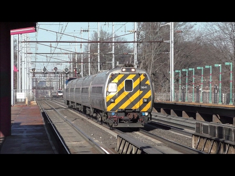 Amtrak HD 60fps: Northeast Corridor Action @ Elizabeth w/ NJ Chamber of Commerce Train (2/17/17)
