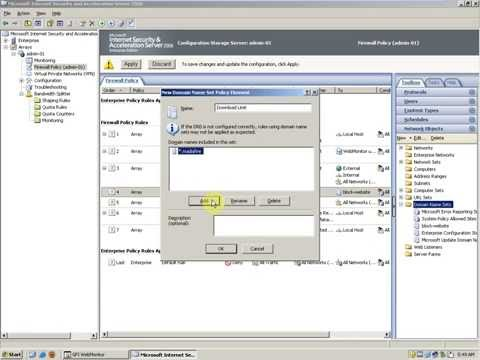 How To Limit Bandwidth On ISA Server 2006 And GFI Monitoring