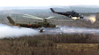 Вертолёты Ми 24 доминируют над ИГИЛ. Уничтожение террористов.