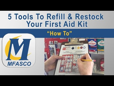5 tools to refill & restock your first aid kit