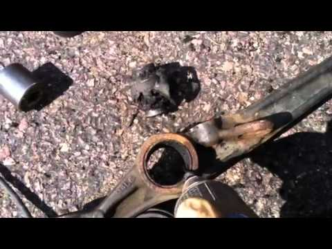 Polyurethane Suspension Bushings >> 3-19-12 replacing lower control arm bushing - YouTube