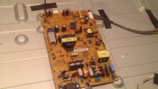How to replace Capacitor and Power Board on LG LED Smart TV 47LN5750 no Picture Repair