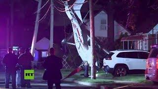 Pequeña avioneta cae a tierra en Long Island