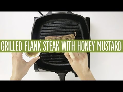Grilled Flank Steak with Honey Mustard Glaze | Recipes | 365 by Whole Foods Market